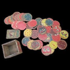 Set of Victorian Indian Playing Cards in original box.