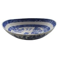 C1840 Wedgwood Boat Shaped Willow Pattern dish.