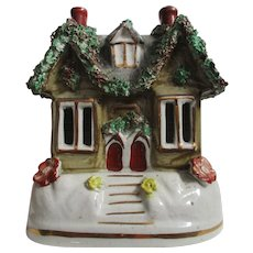 Victorian Staffordshire Pottery Cottage