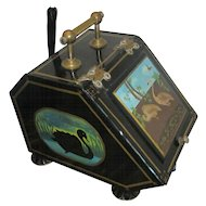 Victorian Tole Bargeware Fireside Box