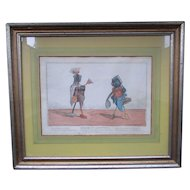 Thomas Tegg (1776–1845) English C1800 Hand Colored Satirical Print