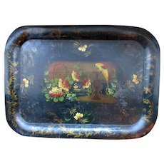 Fine Large English Regency Tole Ware Tray