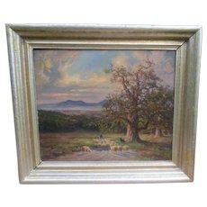 Karl Demetz 1909-1986 Oil Painting On Board