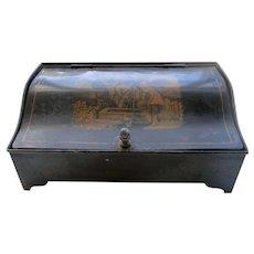 Regency English Peinte Tole Desk Standish