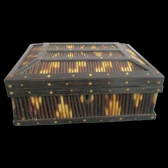 Victorian Ceylonese Porcupine Quill Jewelry Box