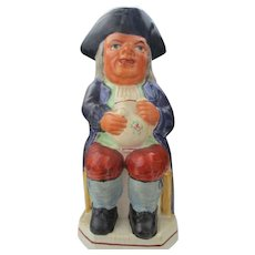 Victorian Staffordshire Pottery Toby Jug