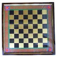 Fabulous C1870 English Verre Eglomise Chess Board