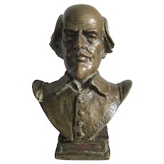 C1900 Desk Bronze William Shakespeare Paper Weight