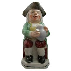 C1870 Staffordshire Pottery Toby Jug