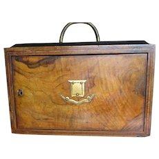 Fine Victorian Figured Walnut Correspondence Desk Writing Box