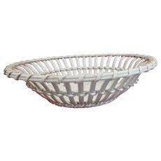C1800 Wedgewood Creamware Chesnut Basket