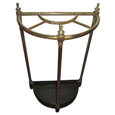 Late Victorian Walking Stick Stand Brass & Iron