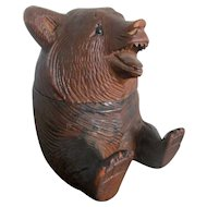 C1900 - 20 Black Forest Bear Desk Inkwell