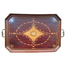 Fine Quality Late Victorian Tray with Sheraton Type Inlays