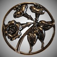 Vintage 1950's Signed Danecraft Marked Sterling Silver WildFlower Brooch/Pin