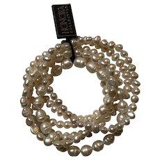 """HONORA """"6"""" Stretch Fresh Water Pearl Bracelets NWT"""