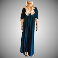 1981 SHADOWLINE Blue Gown & Robe New w/Tags Old Stock