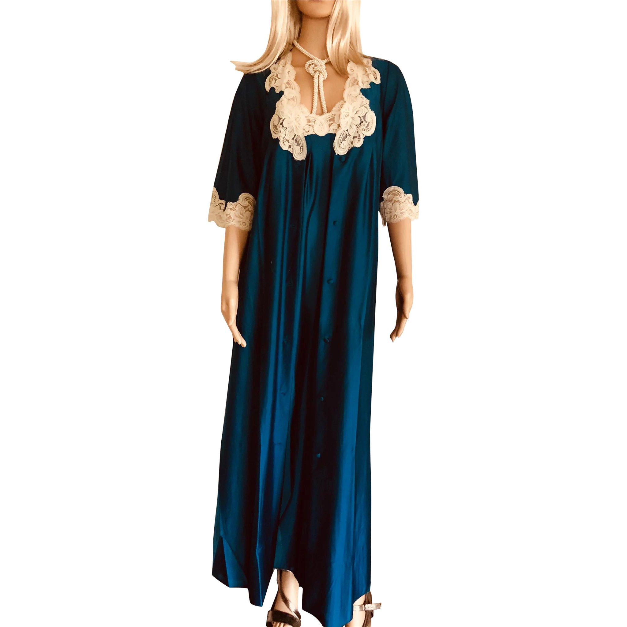 1981 SHADOWLINE Blue Gown & Robe New w/Tags Old Stock : Treasures ...