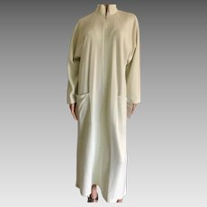 """2001 SHADOWLINE """"Sophisticated"""" Celery Zip Down Robe New w/Tags Old Stock"""
