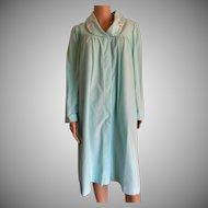 "1992 SHADOWLINE Size Small ""Polyvelva"" Seafoam Robe New w/Tags Old Stock"