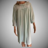 "1985 ""Shadowline "" Aqua Hospital Gown New with Tags Old Stock"