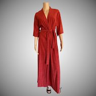 "1982 "" Shadowline "" Russet ~Terry Belted Bathrobe New w/Tags (Old Stock)"