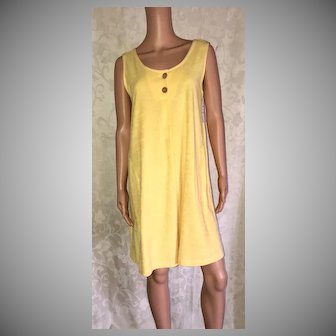 1999 Comforts by Shadowline Yellow Terry Beach Dress New w/Tags (Old Stock)