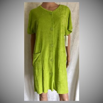 2000 Comforts by Shadowline LIME Terry Coverup New w/Tags Old Stock