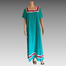 1985 Shadowline Teal Zip Terry Dress/Coverup New w/Tags (Old Stock)