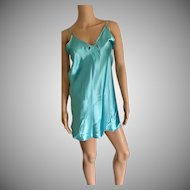 Circa 1990's California Dynasty Aqua Chemise New w/Tags (Old Stock)