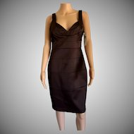 London Times Brown Sleeveless Sexy Dress Size 10 New w/Tags