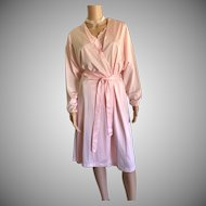 "1988 ""Shadowline "" Pink Nightgown & Robe New w/Tags (Old Stock)"