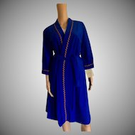 1977 Shadowline Plush Royal Belted Wrap  Robe New w/Tags(Old Stock)