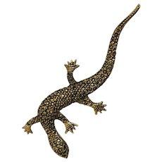 1980's M.J. CARROLL Signed Lizard Brooch