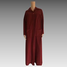 "1982 ""Shadowline Woman's Cinnamon Long Robe New W/Tags (Old Stock)"