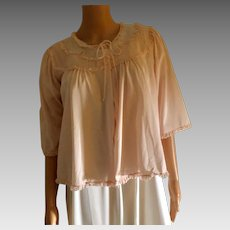 "1961 "" Shadowline "" Hollywood Resting/Bed Jacket-Pink-New With Tags ( Old Stock)"