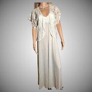 "1998 ""Shadowline ""BRIDAL  Peignoir White w/Lace New w/Tags (Old Stock) Bridal Wow!"