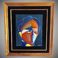 Beluchi Woman-by Anthony Quinn Original Sculpture  Koa Framed Signed