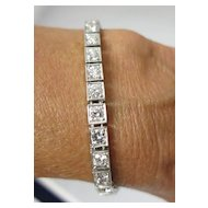 Lady's Platinum & 6 Carat Diamond Bracelet