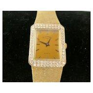 14K Unisex Geneve Yellow Gold and VS Diamond Watch