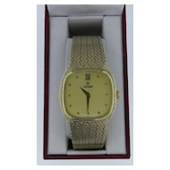Man's Omega 14K Yellow Gold Bracelet Watch