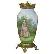 RARE Baccarat Hand Painted Lamp