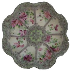 RARE Marked Nippon Moriage Hand Painted Bowl - Roses Excellent