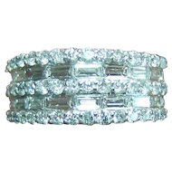 Lady's 14K White Gold Diamond Ring - 1.4 Carats