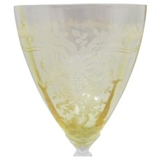Fostoria June Topaz Water Goblet #5298