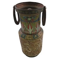 Huntley & Palmer Ltd. Biscuit Container - Eqyptian Theme Urn Tin