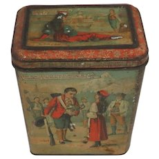 "Rare 19thC Victorian CARR'S BISCUIT TIN ""The Ice Maiden"" Hans Christian Andersen"