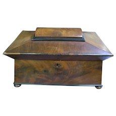 Antique Wooden Tea Caddy