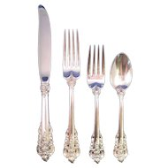 Wallace Grande Baroque (1941) Sterling Silver Flatware - 4 Piece Place Setting