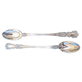 """Two Buttercup Gorham Sterling Silver 71/2"""" Iced Tea Spoons- No Monogram"""